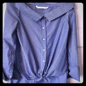 Zara off the shoulder blouse.